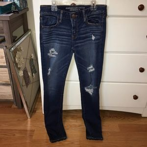 Women's American Eagle destroyed jeggings size 8